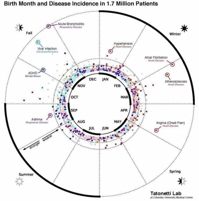 Bolile ce țin de data nașterii – STUDIU