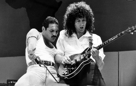 Freddie Mercury și Brian May, Live Aid, Stadionul Wembley, 13 iulie 1985.